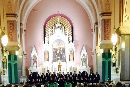 Staley High School Chamber Choir Sings at the Basilica of the Plains